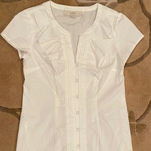 LOFT short sleeve blouse